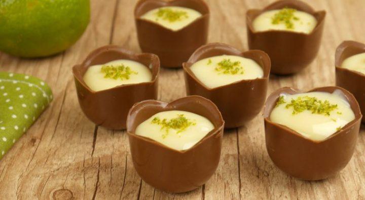mousse de limão com chocolate